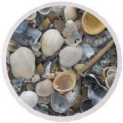 Shell Mosaic Round Beach Towel