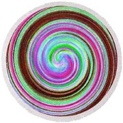 Shell Shocked Round Beach Towel by Catherine Lott