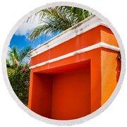 Shelter Orange Round Beach Towel by Melinda Ledsome