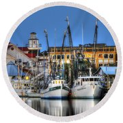 Shem Creek Round Beach Towel