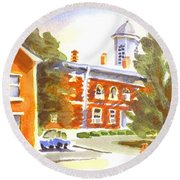Sheriffs Residence With Courthouse Round Beach Towel