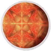 Shield Of Faith Round Beach Towel by Margie Chapman