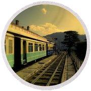 Shimla Railway Station Round Beach Towel