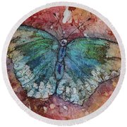 Shimmer Wings Round Beach Towel