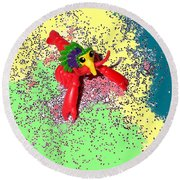 Round Beach Towel featuring the photograph Shimmering Lobster by Joseph Baril
