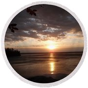 Round Beach Towel featuring the photograph Shimmering Sunrise by James Peterson