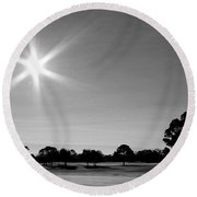 Round Beach Towel featuring the photograph Shine And Rise by Faith Williams