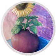 Shine On Me Round Beach Towel by Laurie Morgan