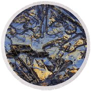 Round Beach Towel featuring the photograph Shiny Ice by Sami Tiainen