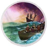 Shipwrecked Sailors Round Beach Towel