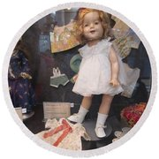 Shirley Temple Doll Round Beach Towel by Donna Wilson