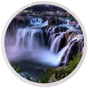 Shoshone Falls Round Beach Towel by David Andersen