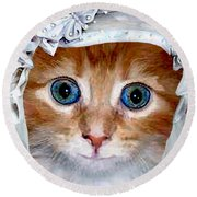 Shotgun Bride  Cats In Hats Round Beach Towel