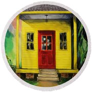Shotgun House Round Beach Towel