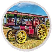 Showmans Engine Round Beach Towel