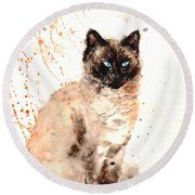 Siamese Beauty Round Beach Towel