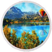 Sierra Dreaming  Round Beach Towel