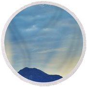 Sierra Sunset Round Beach Towel by Mayhem Mediums