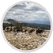 Sierra Trail Round Beach Towel by Diane Bohna