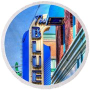 Sign - The Blue Room - Jazz District Round Beach Towel by Liane Wright