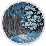 Significant Cedar Round Beach Towel by Phil Chadwick