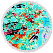 Signs Of Life Round Beach Towel