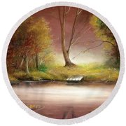Silence Round Beach Towel