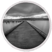 Silent Dock Round Beach Towel
