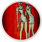 Silent Hill Nurses Round Beach Towel