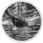 Round Beach Towel featuring the photograph Silent Lady by Howard Salmon