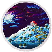 Silent Night 9 Round Beach Towel