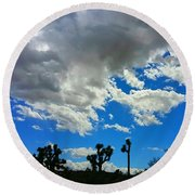Silhouettes  Round Beach Towel by Angela J Wright