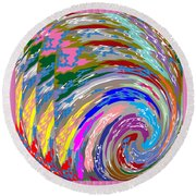 Colorful Fineart Silken Spiral Waves Pattern Decorative Art By Navinjoshi At Fineartamerica.com Round Beach Towel