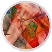 Silky Abstract Round Beach Towel by Catherine Lott
