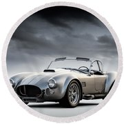 Silver Ac Cobra Round Beach Towel