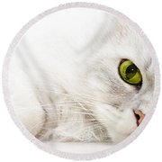 Silver Shaded Persian Round Beach Towel by Carsten Reisinger