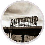 Silvercup Studios Round Beach Towel