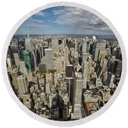 Sim City Round Beach Towel by Mihai Andritoiu