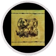 Simmental Bull 12 Round Beach Towel