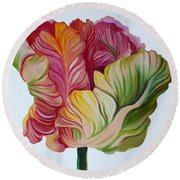 Simple Tulip Round Beach Towel