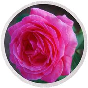 Simply A Rose Round Beach Towel