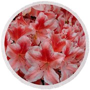 Simply Azaleas Round Beach Towel