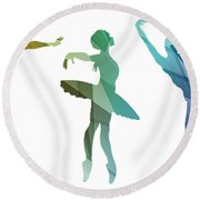 Simply Dancing 3 Round Beach Towel