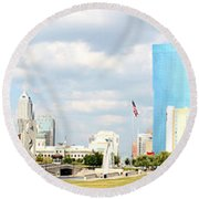 Simply Indy Round Beach Towel
