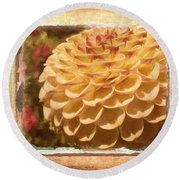 Simply Moments - Flower Art Round Beach Towel