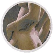 Round Beach Towel featuring the painting Simply Naked by Dragica  Micki Fortuna