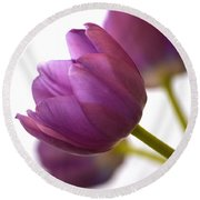 Simply Purple Round Beach Towel by Deb Halloran