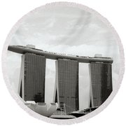 Singapore Skyline Round Beach Towel