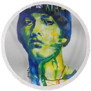Rapper  Eminem Round Beach Towel