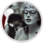 Singer Pianist Blossom Dearie  No Known Date Round Beach Towel
